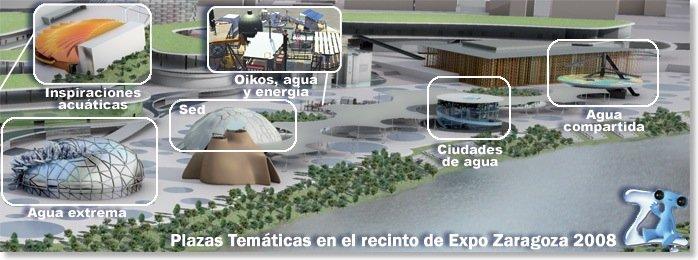 El recinto de Expo Zaragoza 2008 a un mes