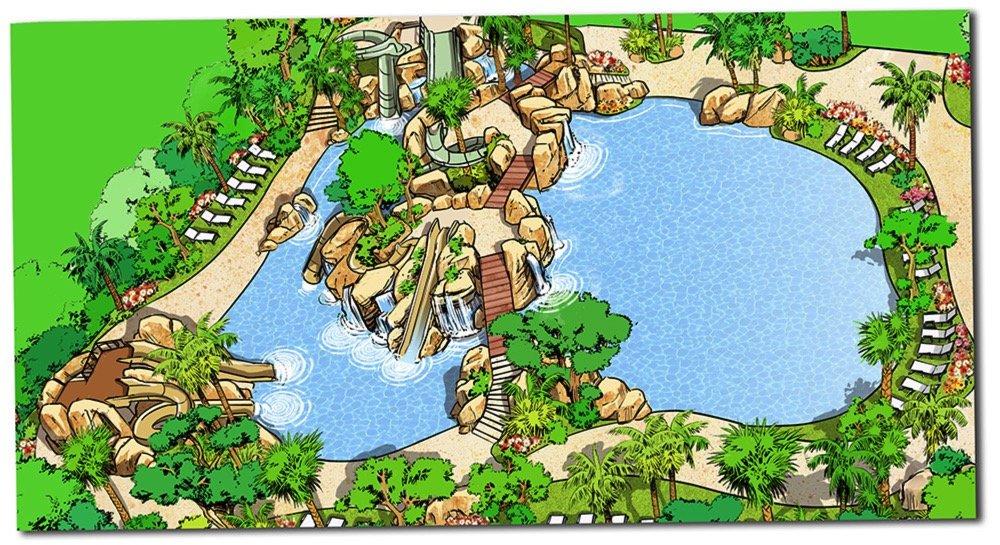 Ampliación de la piscina lúdica del Meliá Sol Barbados