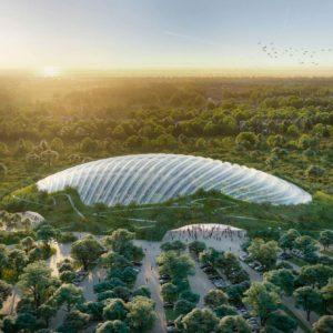 El invernadero tropical de una sola cúpula más grande del Mundo