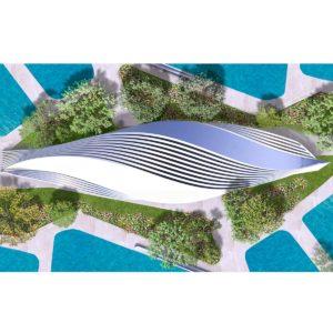 Cubierta de Parque Acuático: múltiples puntos de vista para un solo edificio.