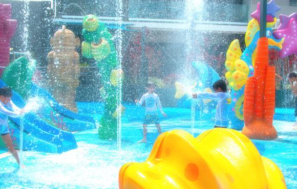 Primer Splash Pad de Isla Mauricio, por Amusement Logic.