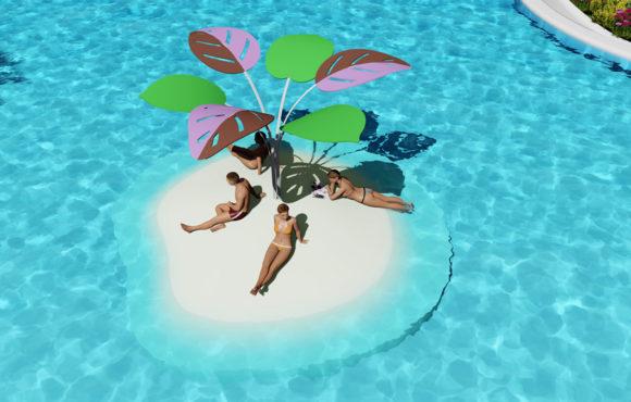 SandBank: Islas artificiales para relajarse, tomar el sol o jugar