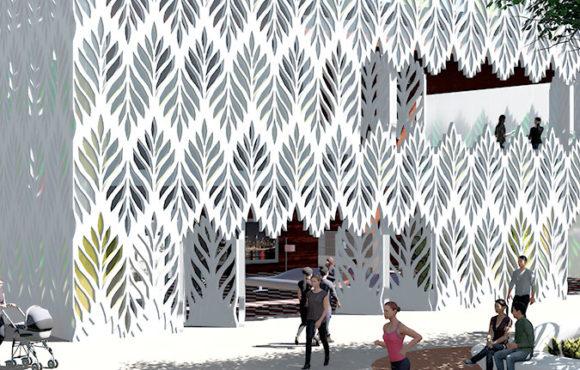 Una piel del edificio reguladora de luz