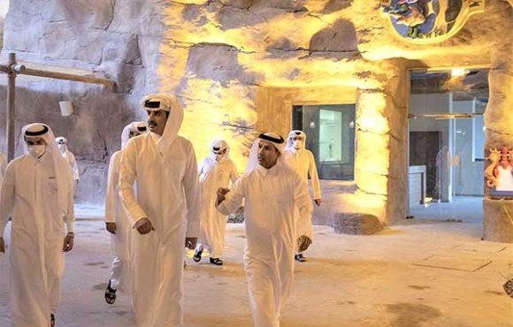 Visita de la Casa Real a Salwa Beach Resort