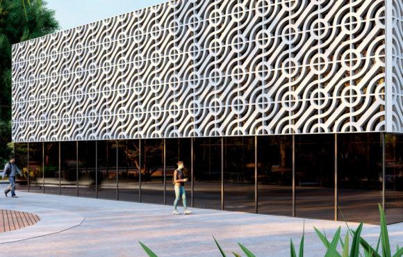 Patrones modulares rotatorios en fachadas