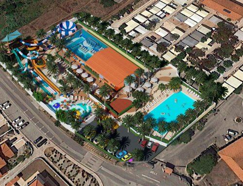 Parque acuático en proceso: Camping Colina do Sol