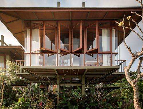 Casas modulares prefabricadas sobre pilotes en Bali