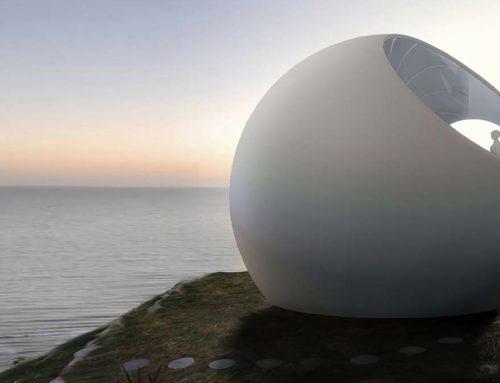 Casa prefabricada esférica