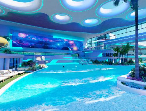 Parque acuático y complejo termal para un centro comercial, Rusia