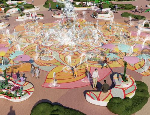 Fountain Splash Pad, paisaje y diversión