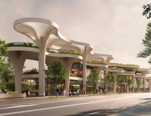 Solar Trees Marketplace en Shanghai: cuando la forma sigue a la naturaleza